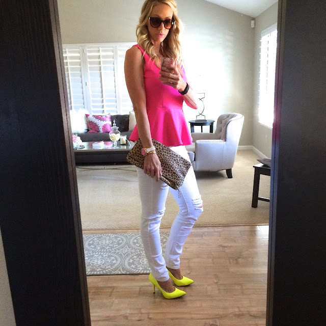 neon pink and yellow fashion