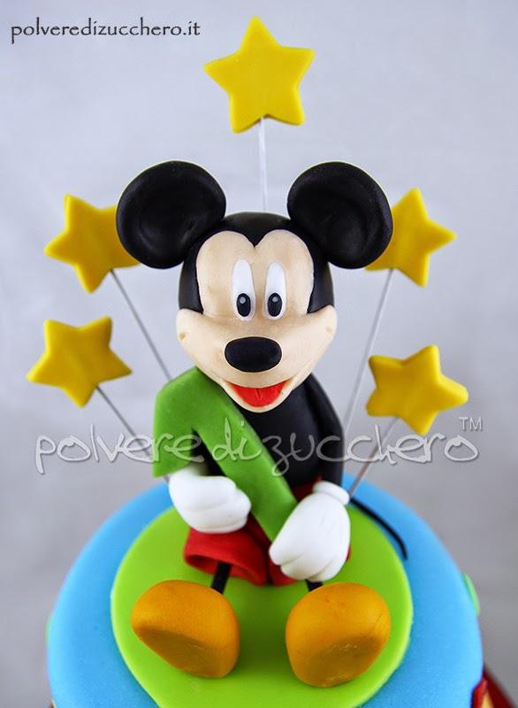 mickey mouse topolino cake design pasta di zucchero bakery polvere di zucchero