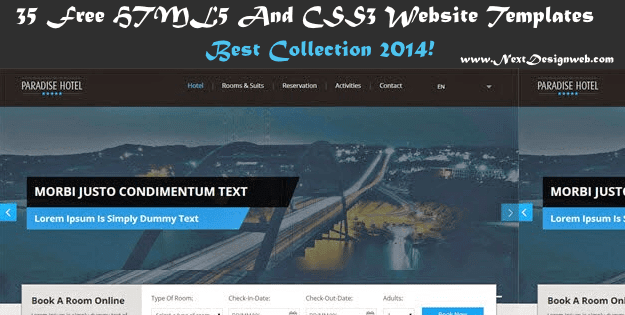HTML5 And CSS3 Website Templates