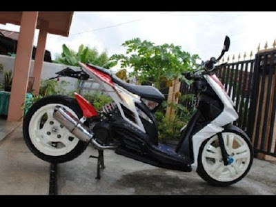 Modifikasi motor honda beat velg 17