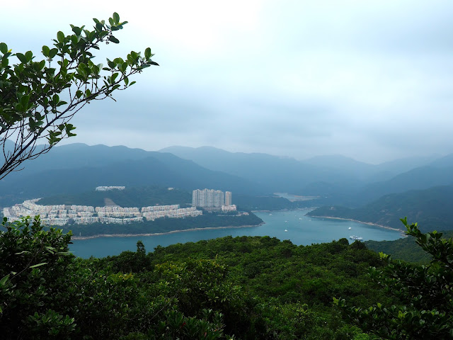 View of Red Hill, Tai Tam Bay & reservoir from Dragon's Back, Hong Kong Island