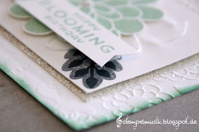 Stampin Up Stempelmusik TGIF Throwdown Minzmakrone Mint Macaron Flower Patch Lovely Lace Spitzentraum