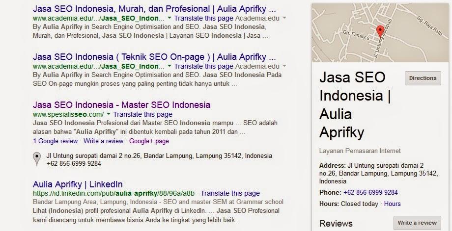 Jasa SEO Indonesia google bisnis