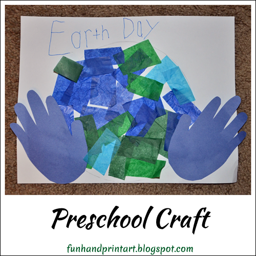 Preschool Earth Day Handprint Craft