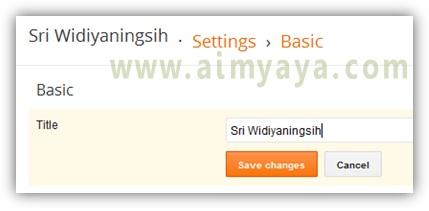 Gambar: Merubah atau mengganti nama blog dan deskripsi blog di blogger