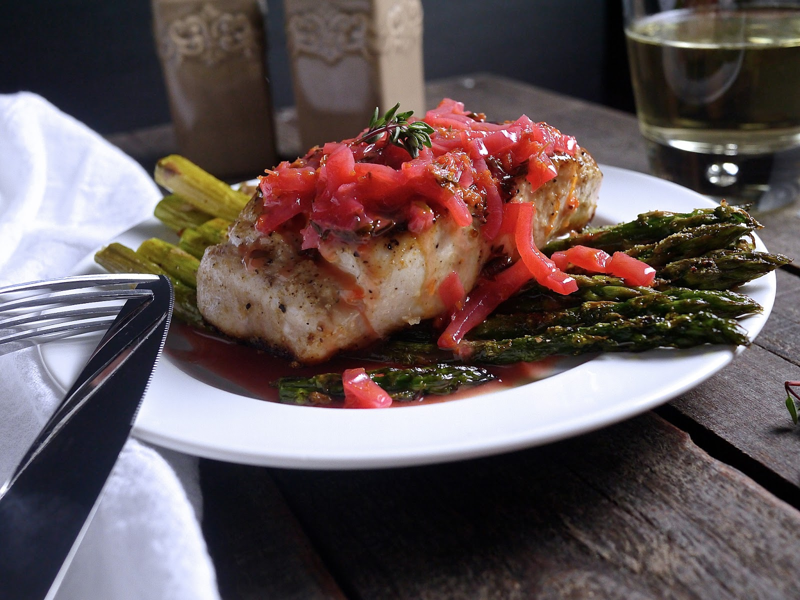 Barbells and bellinis pan fried wahoo with blood orange for Ono fish recipe