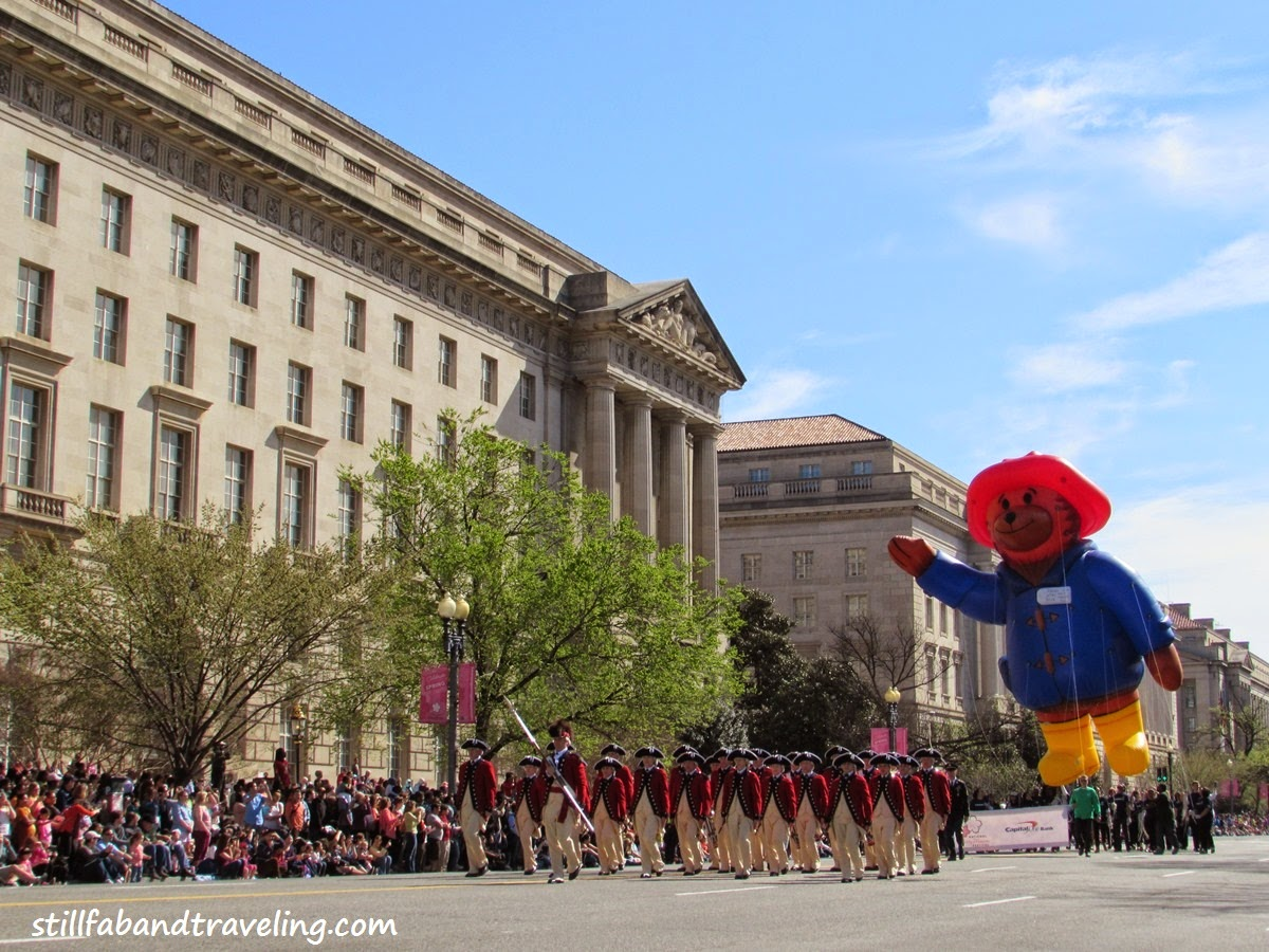Cherry Blossom parade - Padington bear balloon float
