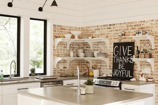 Cocinas de ladrillo visto decorar tu casa es - Cocina de ladrillo ...