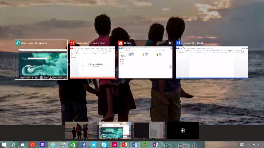 Switching between the tabs is much easier now windows 10