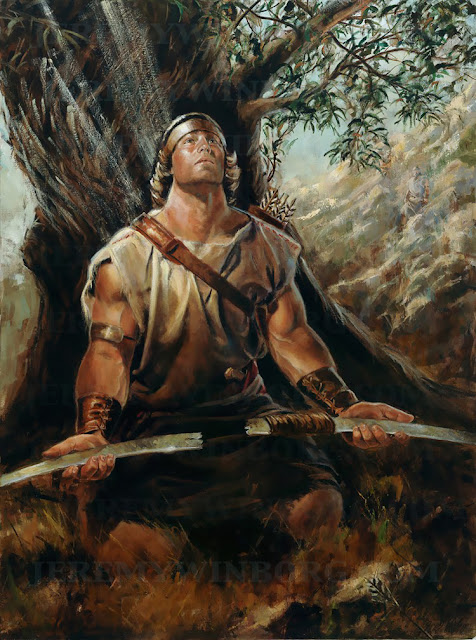 Nephi breaks his bow of fine steel trusts in the lord 1st nephi book of mormon