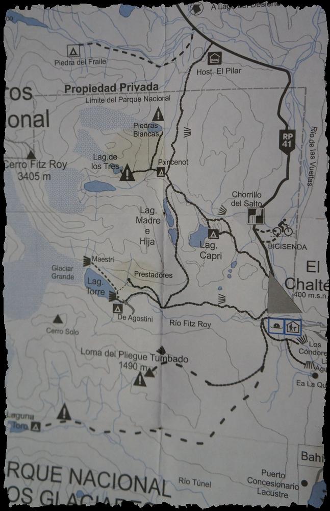 Sendas, Parque Nacional los Glaciares, El Chalten
