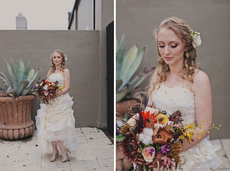 Fort Worth Outdoor Halloween Wedding