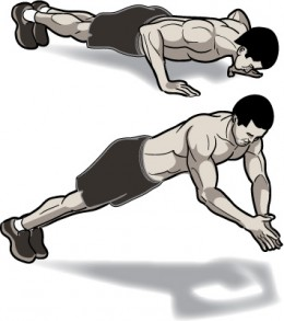 press up training body weight