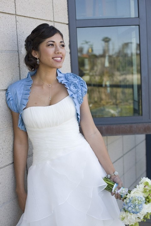Something Blue Wedding Ideas - Blue Bridal Bolero