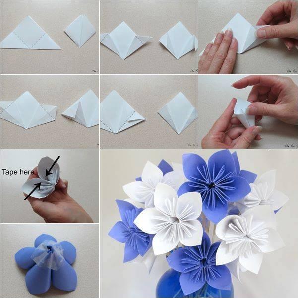 Сделать как цветок из бумаги своими руками