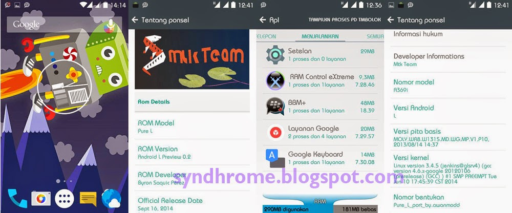 Install Custom ROM Android L for Lenovo A369i Terbaru | Pure L!