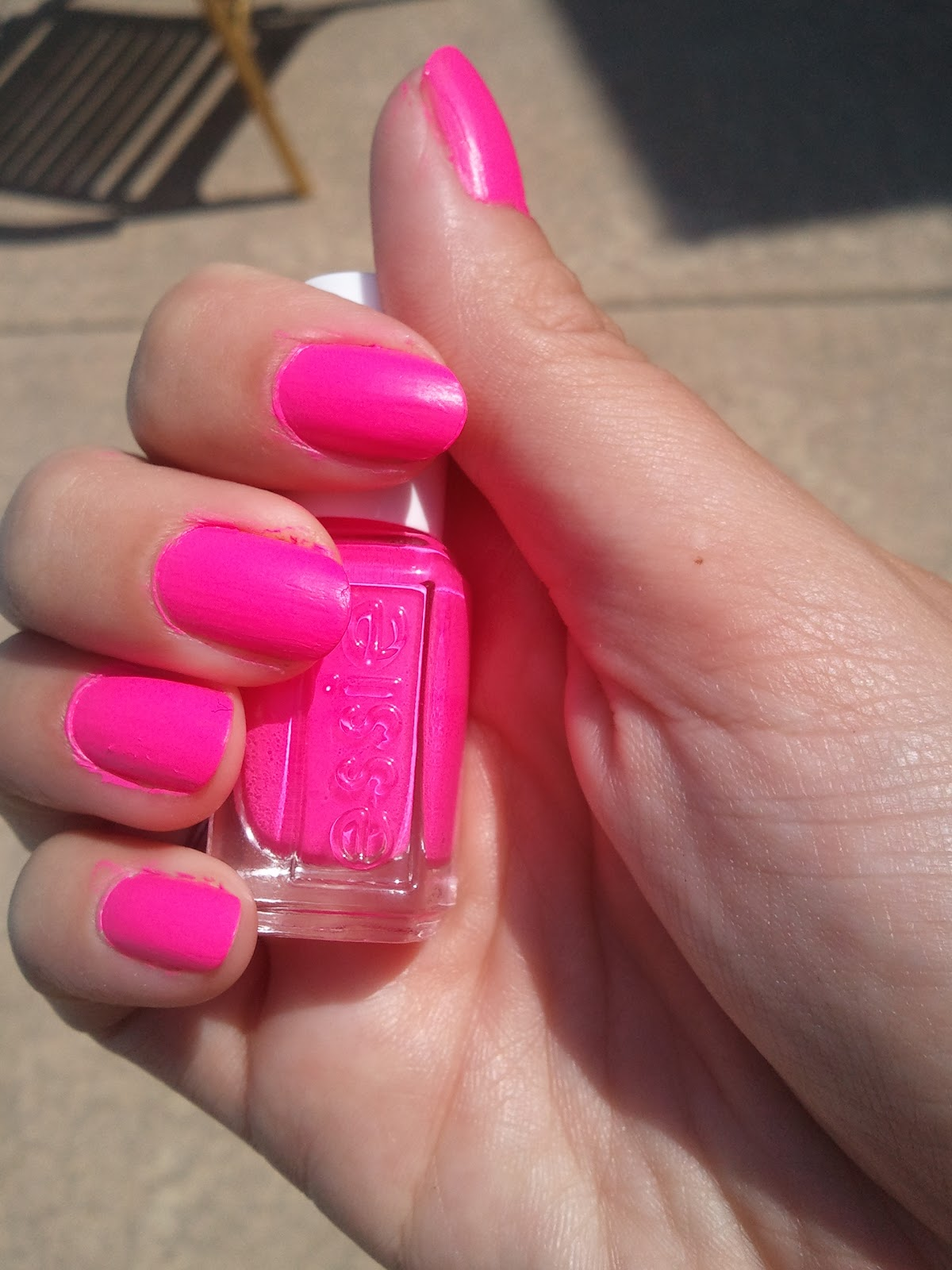 Essie Pink Parka | A Beauty and The Business
