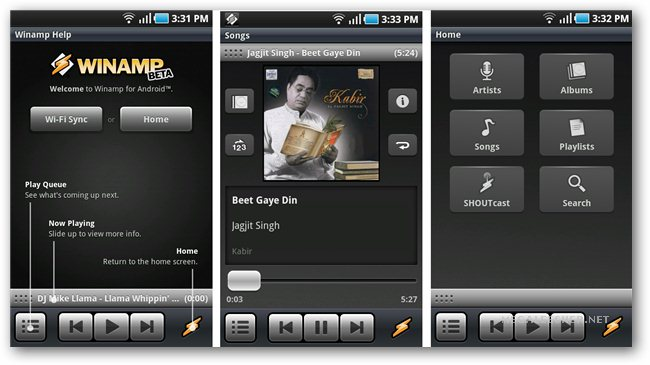 Winamp Pro version for free Download .apk
