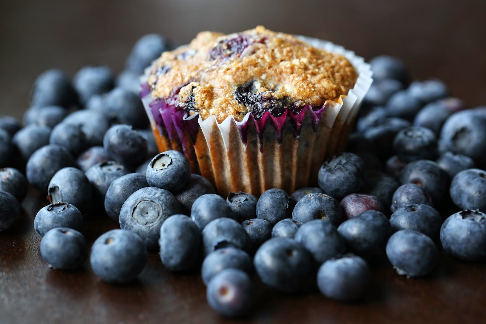 Honey coconut blueberry bran muffin. Photo by Michelle Berg