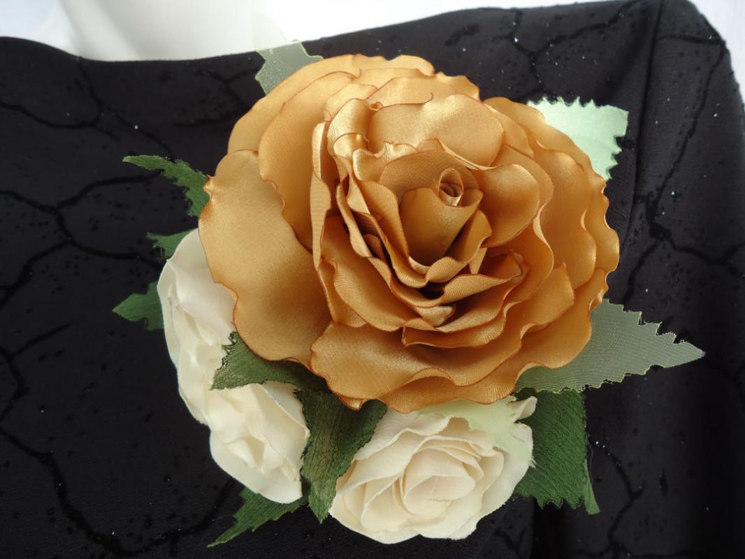 Мк цветы из лент своими руками