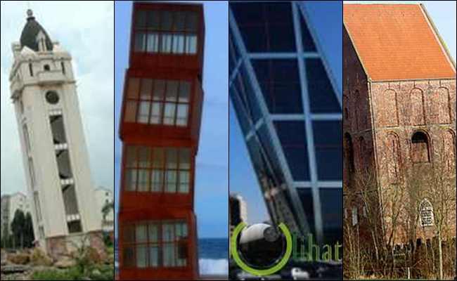 10 Bangunan yang lebih Miring dari Menara Pisa