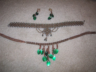 Chain and scale maille necklace and earrings