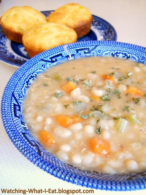 bean soup navy bean soup mrfood com senate navy bean soup hearty navy ...