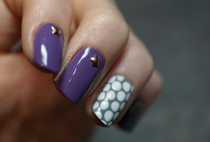 paznokcie w kropki