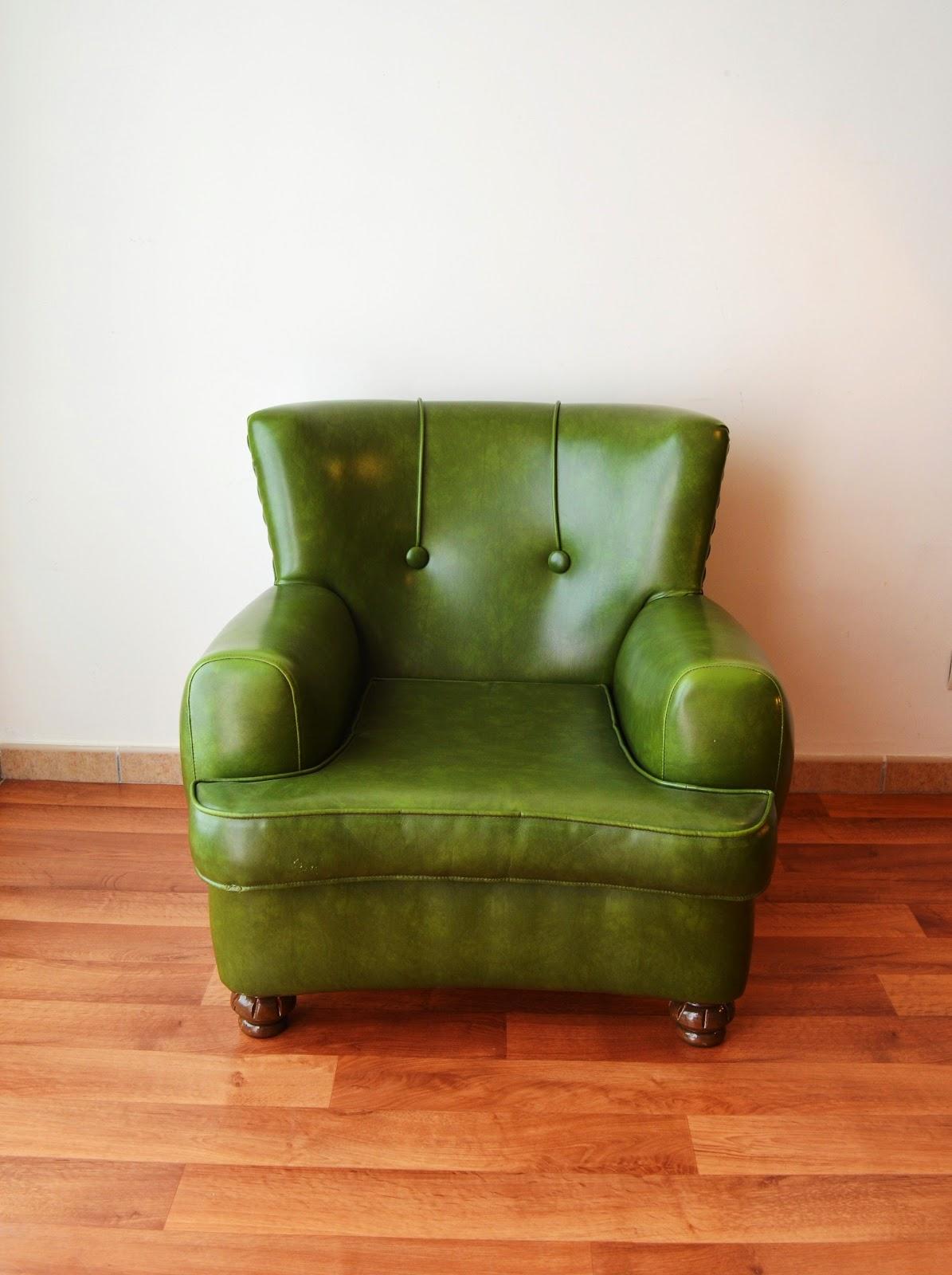Sillones de sky polipiel verde a os 60 vendido - Sillones vintage retro ...