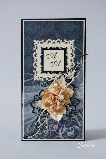 Именная свадебная открытка, свадебная открытка своими руками, открытка на свадьбу ручной работы, свадьба в синем цвете, как подарить деньги красиво
