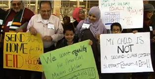 Muslim AS Perjuangkan Libur Sekolah untuk Idul Fitri