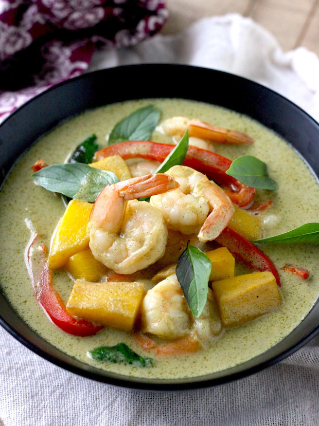 Thai Green Curry with Shrimp & Mango | Season with Spice