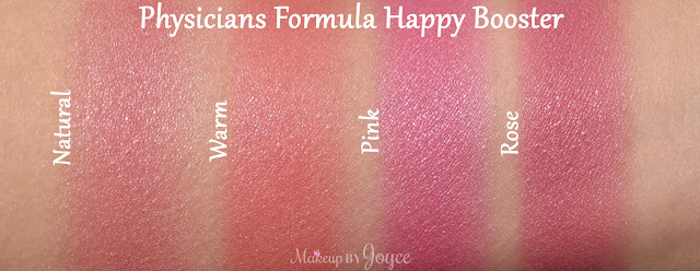 Physicians Formula Happy Booster Blush Collection Swatches