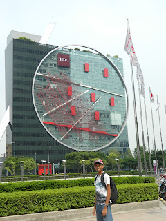 Skyscraper with circle in Seoul
