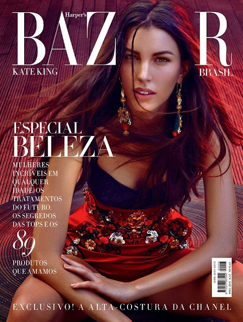 Kate King Looks Ultraa beautiful Cute and Young for Harprs Bazaar Brazil May 2015