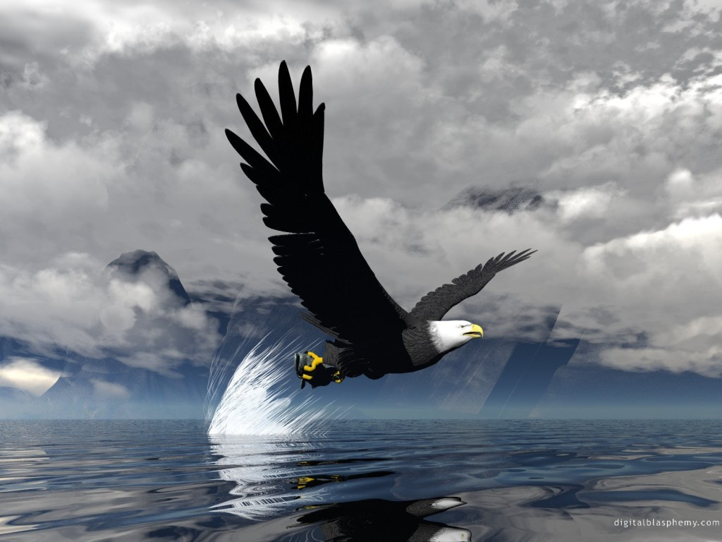 3d Eagles Screensavers   3d Cake Image