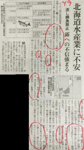 日露外交北海道流し網漁禁止