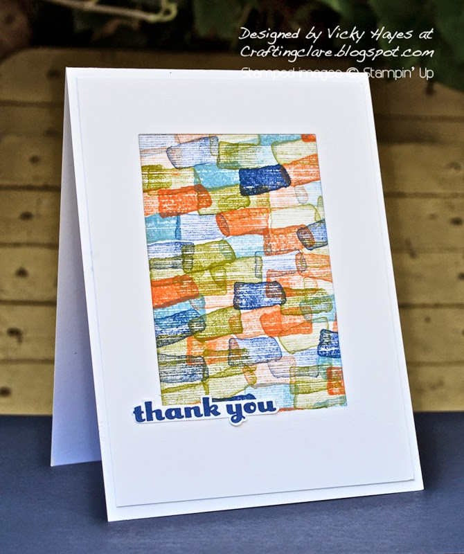 Happy Watercolour available online from independent Stampin' Up demonstrator Vicky Hayes