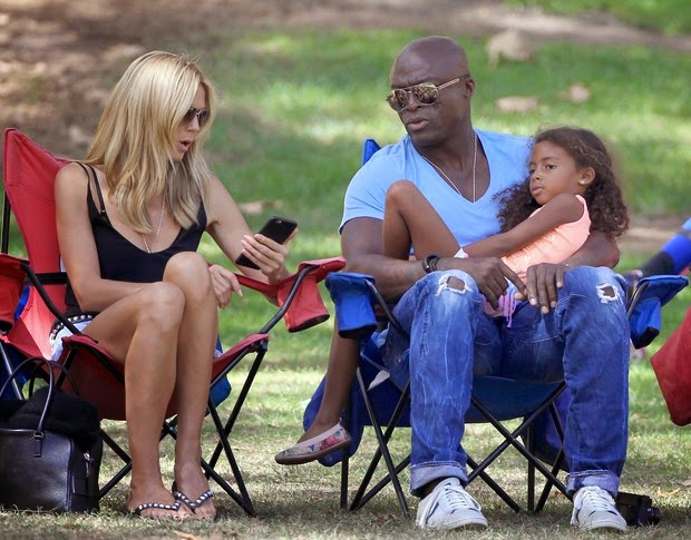 Heidi Klum and Seal stroll with the kids