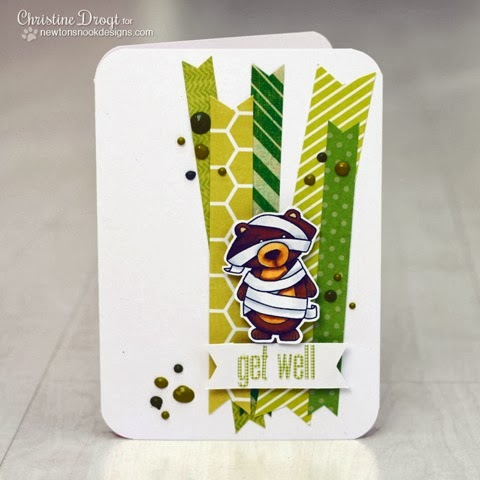 Get well card by Christine Drogt for Newton's Nook Designs Inky Paws Challenge