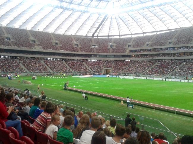 Stadion Narodowy przerobiony na stadion lekkoatletyczny - fot. Tomasz Janus / sportnaukowo.pl