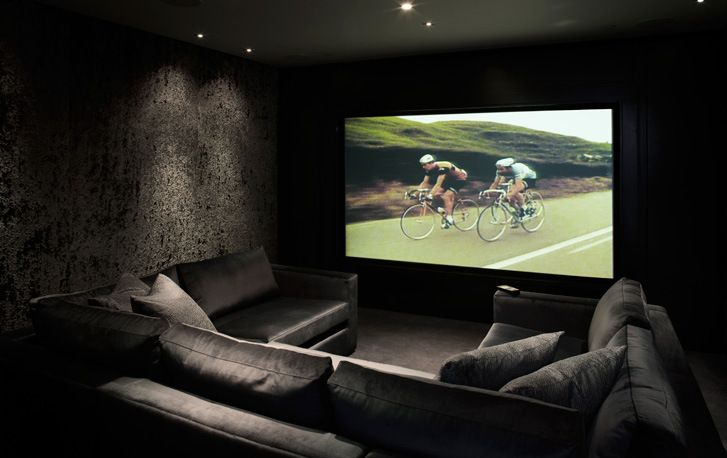 Como decorar e integrar a sala de estar e home theater for What is a media room