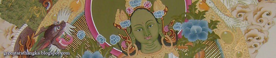 Green Tara Thangka