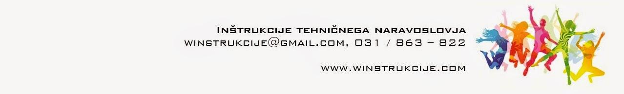 Inštrukcije tehničnega naravoslovja  //  www.winstrukcije.com