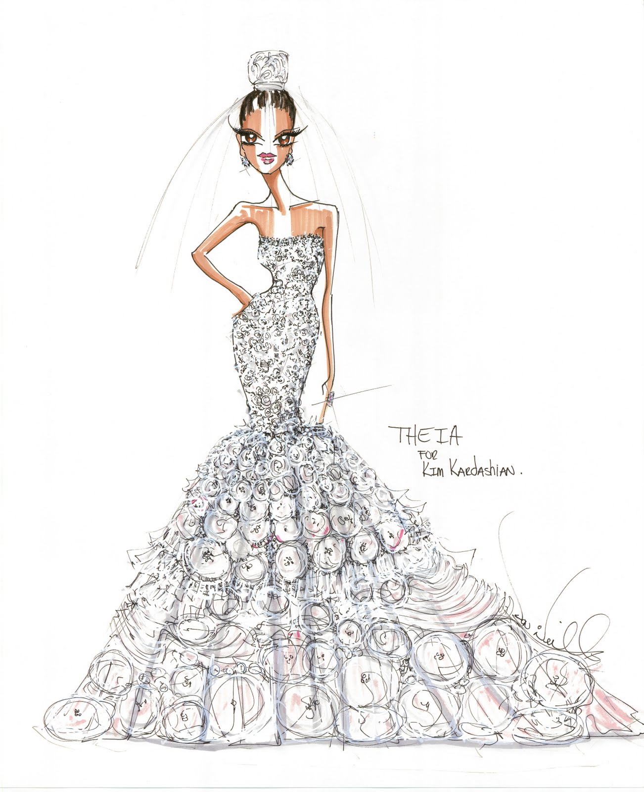 Xoxo tiffanybc is this kim kardashians perfect wedding for Kim kardashian s wedding dress