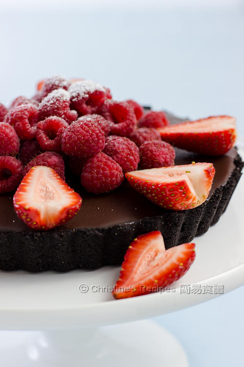樹莓巧克力塔 Raspberry and Chocolate Tart01