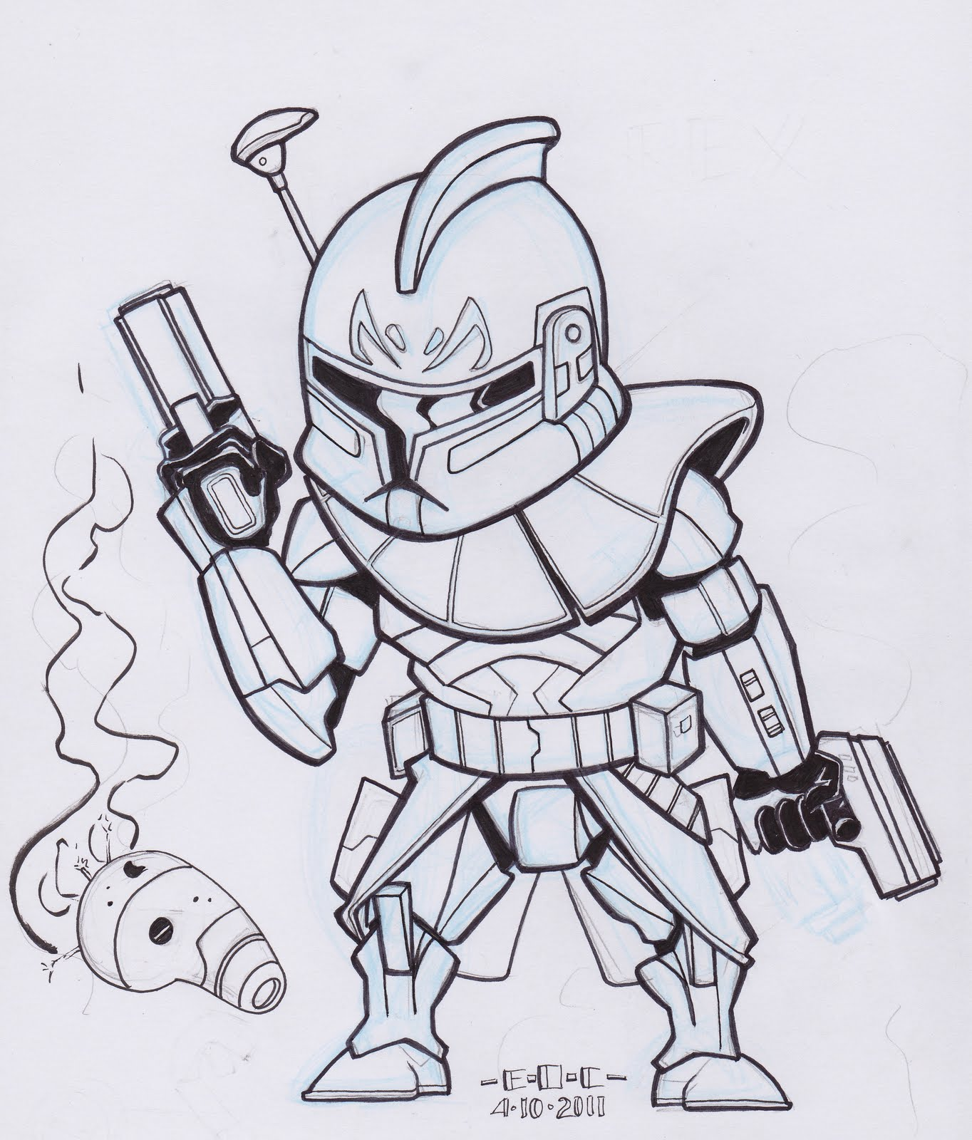 clone commander gree coloring pages - photo#7