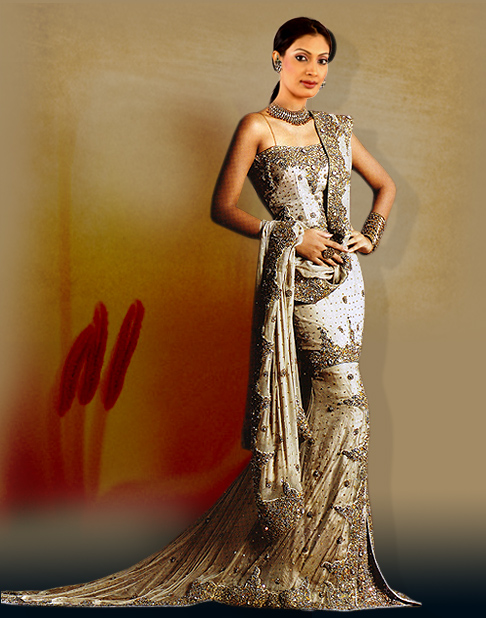 Indian Bridal Wedding DressOne more style of suits is available in market if
