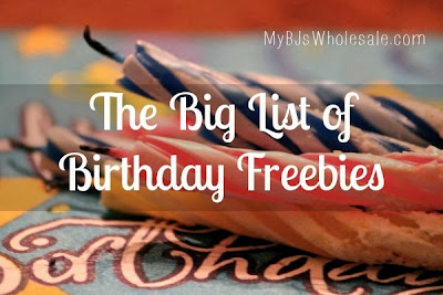 The Big List of Birthday Freebies