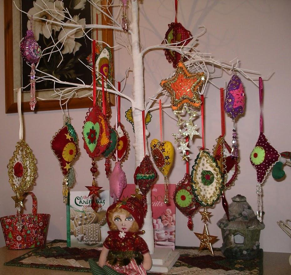 Christmas tree - my beaded ornaments.